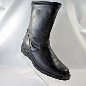 BLONDO Size 10.5 AA Black Leather Boots C1C E1